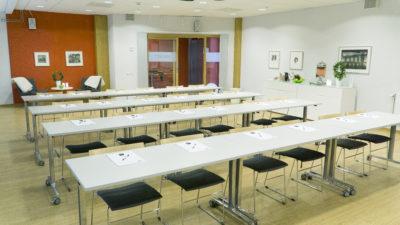 På arenan finns 6 konferensrum av varierande storlek (30-88 personer) och med möjlighet till olika typer av sittningar.